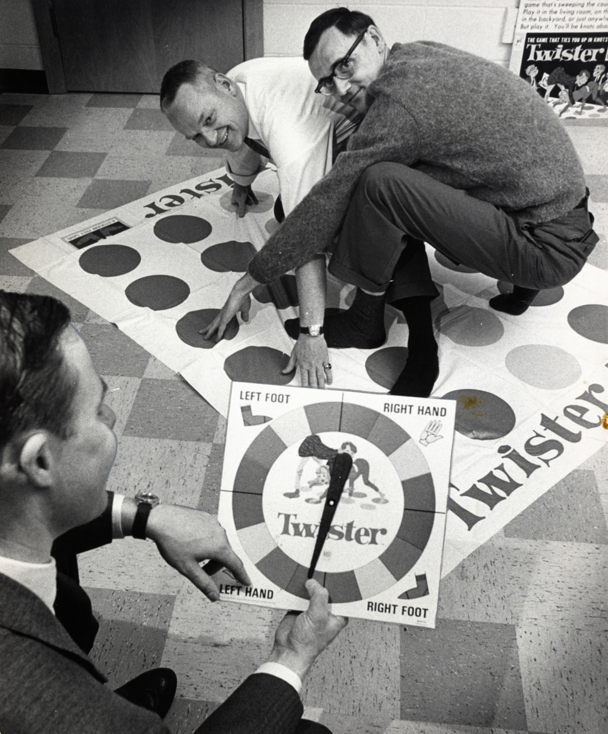In a Dec. 16,1966 photo, co-inventors of the game