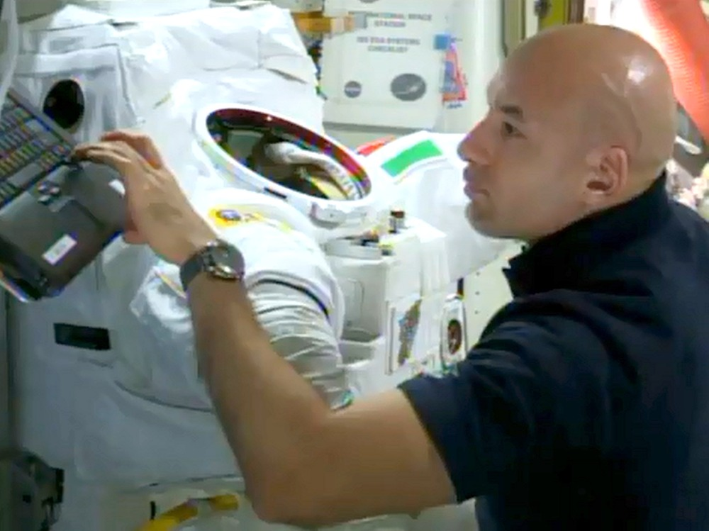 Image: Parmitano and spacesuit