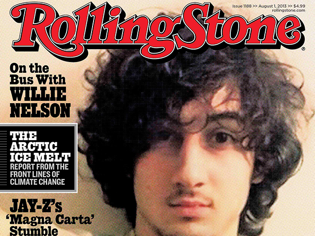 Accused Boston bomber Dzhokhar Tsarnaev is seen on the cover of the August 1 issue of