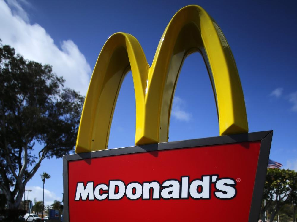 A McDonald's restaurant sign is seen at a McDonald's restaurant in Del Mar, California in this file photo taken April 16, 2013.  McDonald's Corp said ...