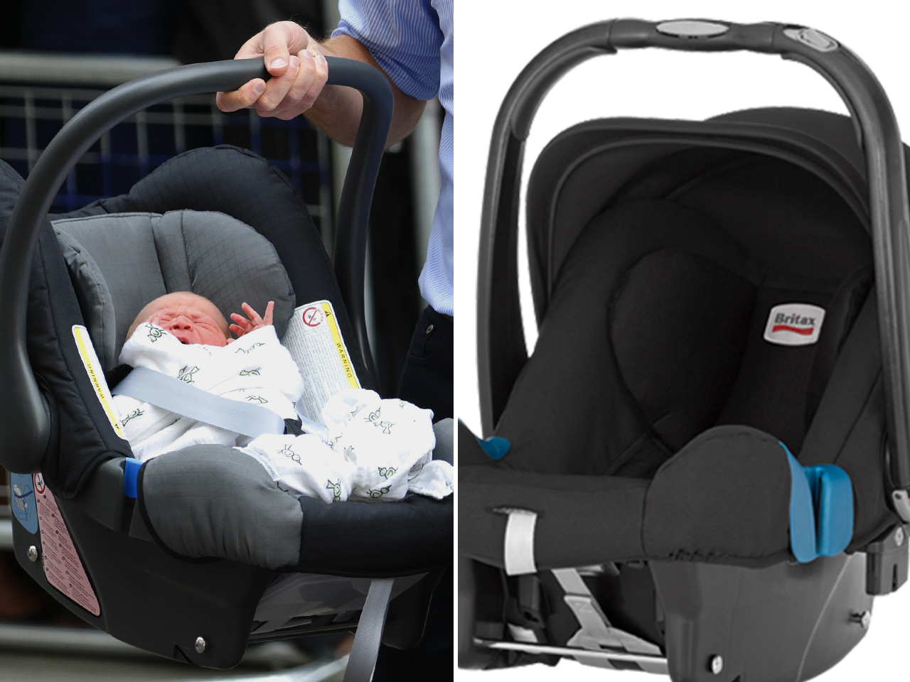 Trendsetting tot: Buyers scoop up car seat, blanket fit for a prince