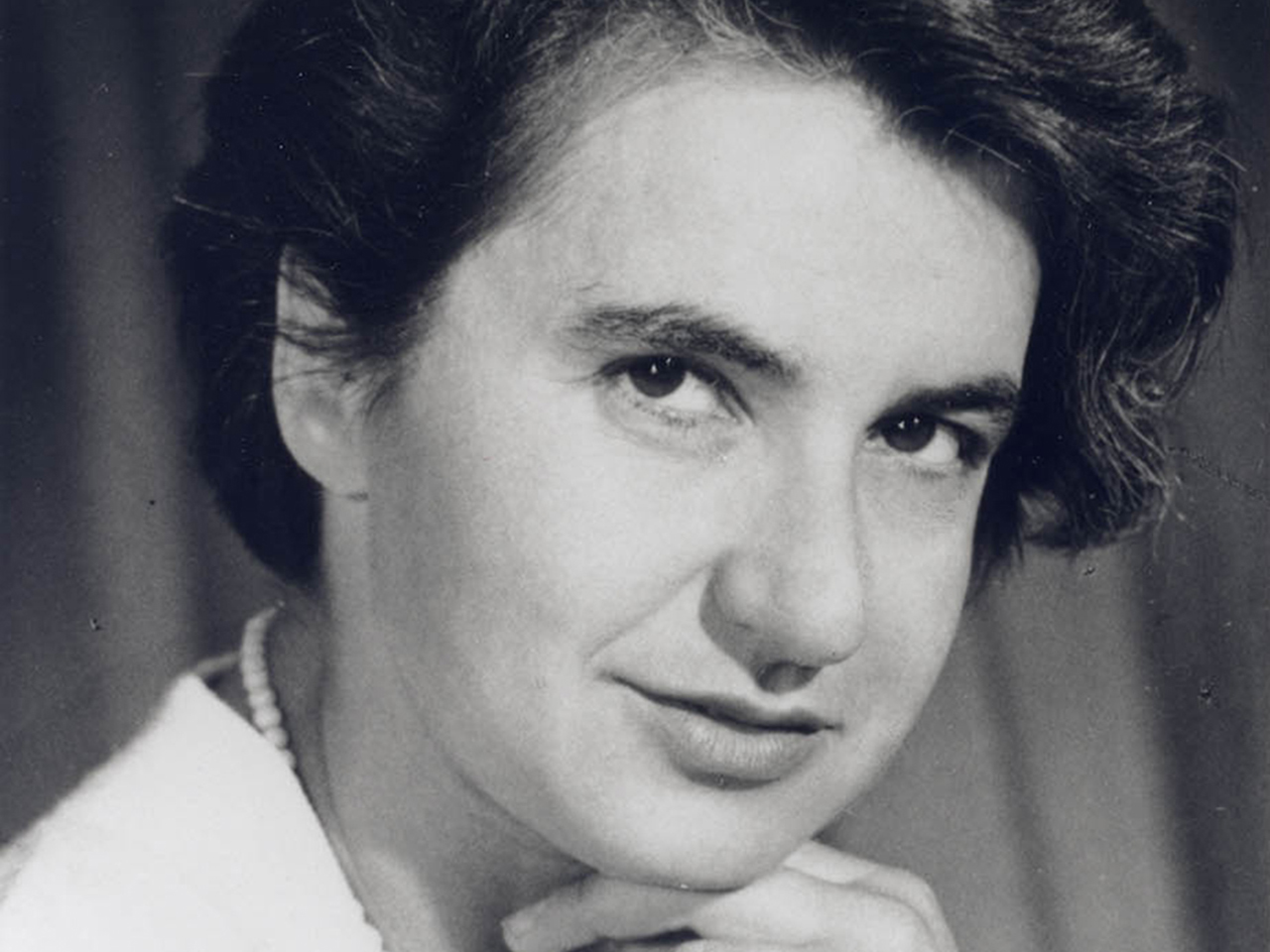 This portrait of Rosalind Franklin was taken during her second visit to the United St