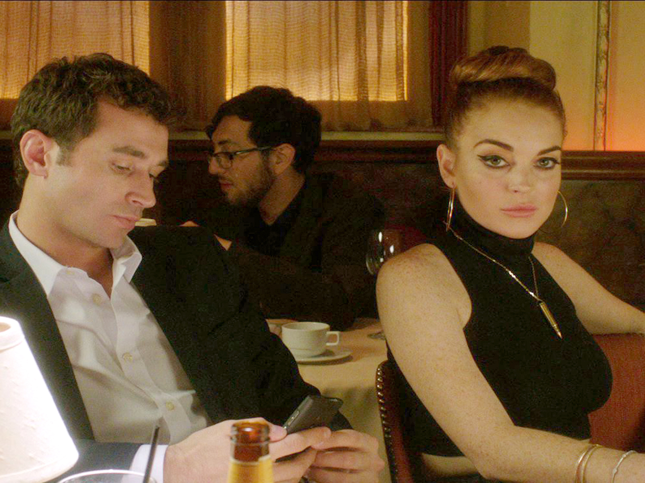 James Deen and Lindsay Lohan in