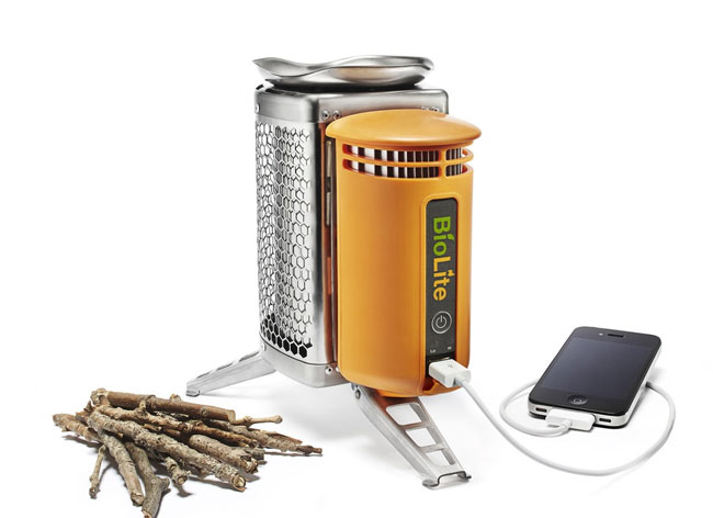 Multitask by using the heat from your cooking to charge your phone.