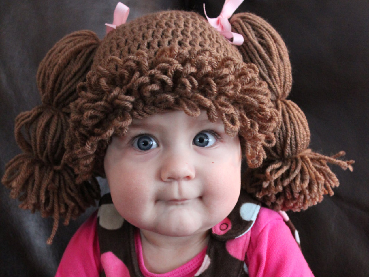 Free Crochet Baby Wig Hat Pattern : Cabbage Patch Kids wigs for babies go viral - TODAY.com