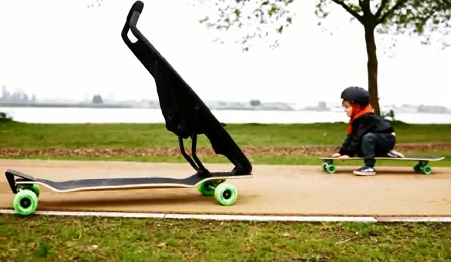 Stroller Skateboard Combo Targets Urban Parents