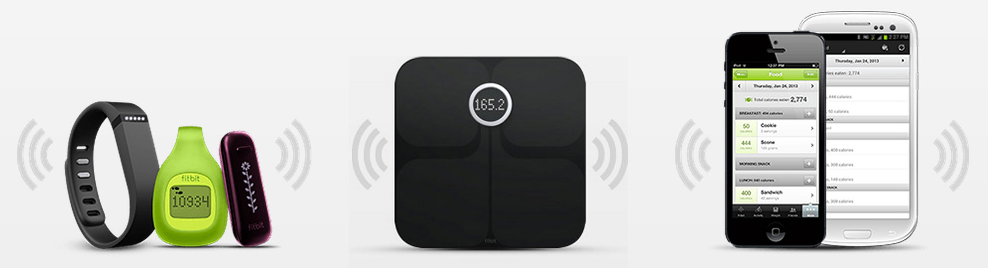 Fitbit system combines wireless trackers, a Wi-Fi smart scale, smartphone apps