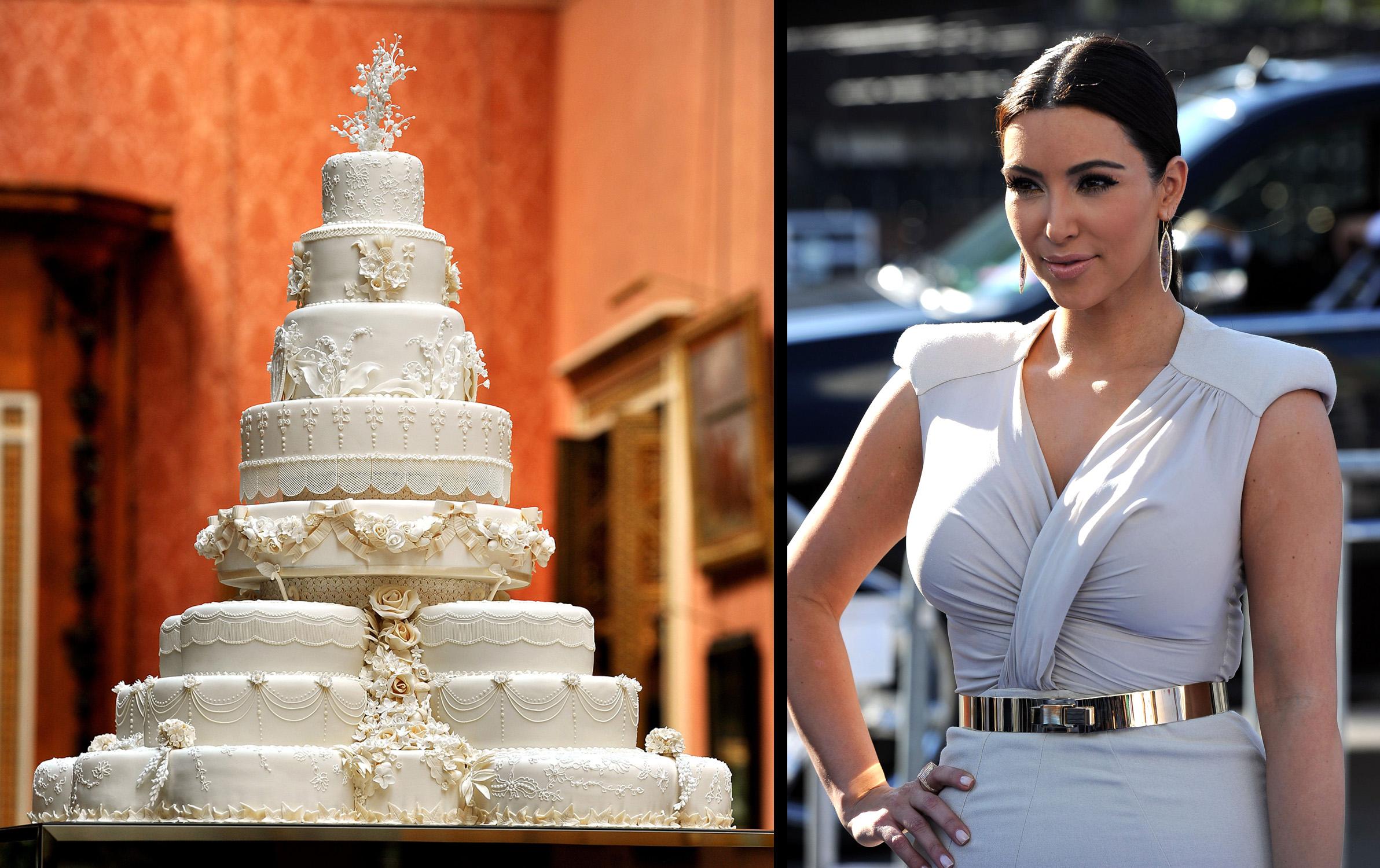 Image Gallery kim kardashian wedding cake