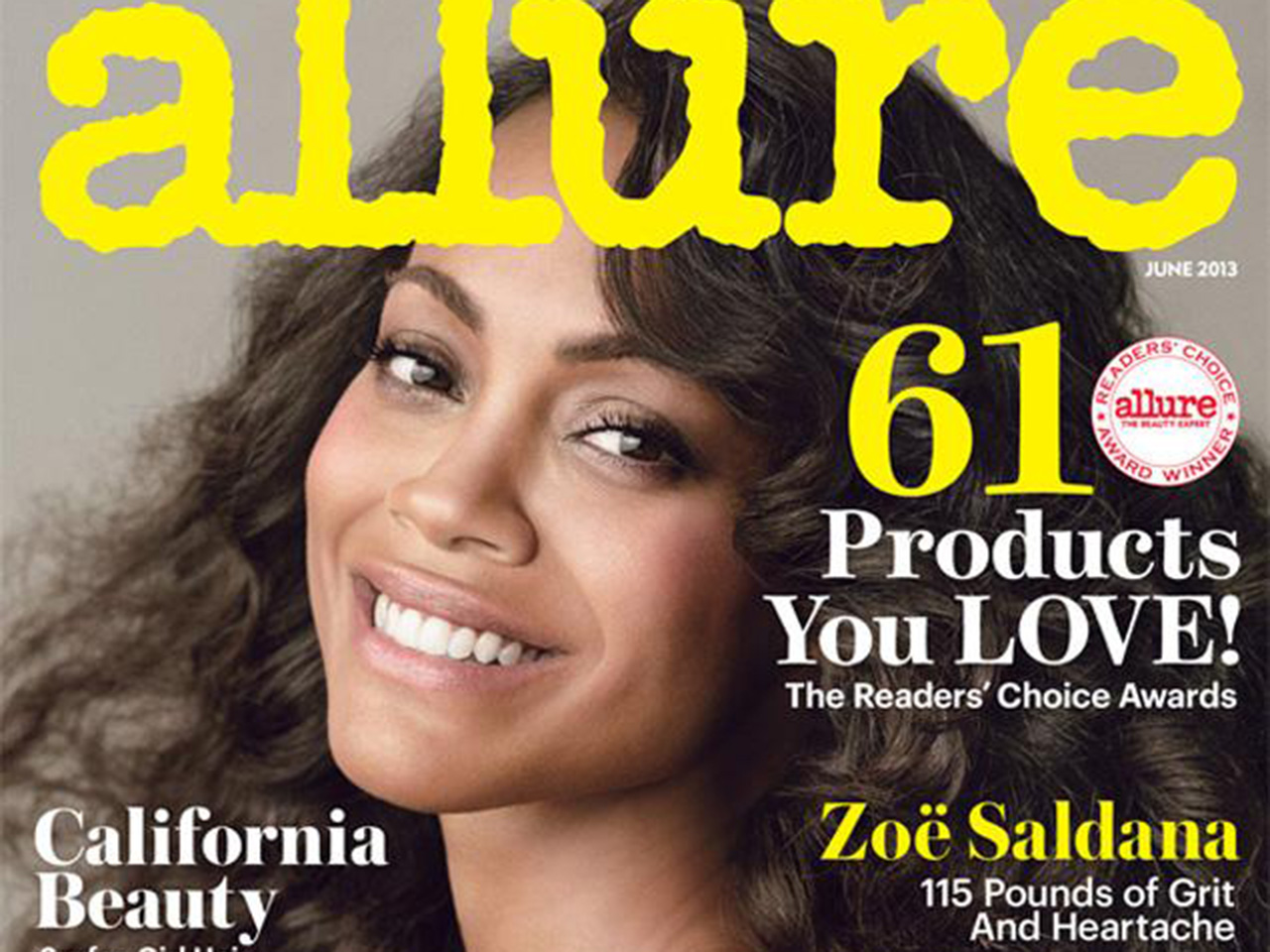 Zoe Saldana's Weight Revealed on New Allure Cover, Poses Naked InsideMag