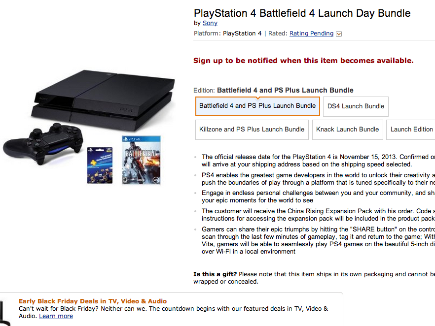 Didn't pre-order a PlayStation 4 or Xbox One yet? You may be out of luck trying to get one in time for the holidays.