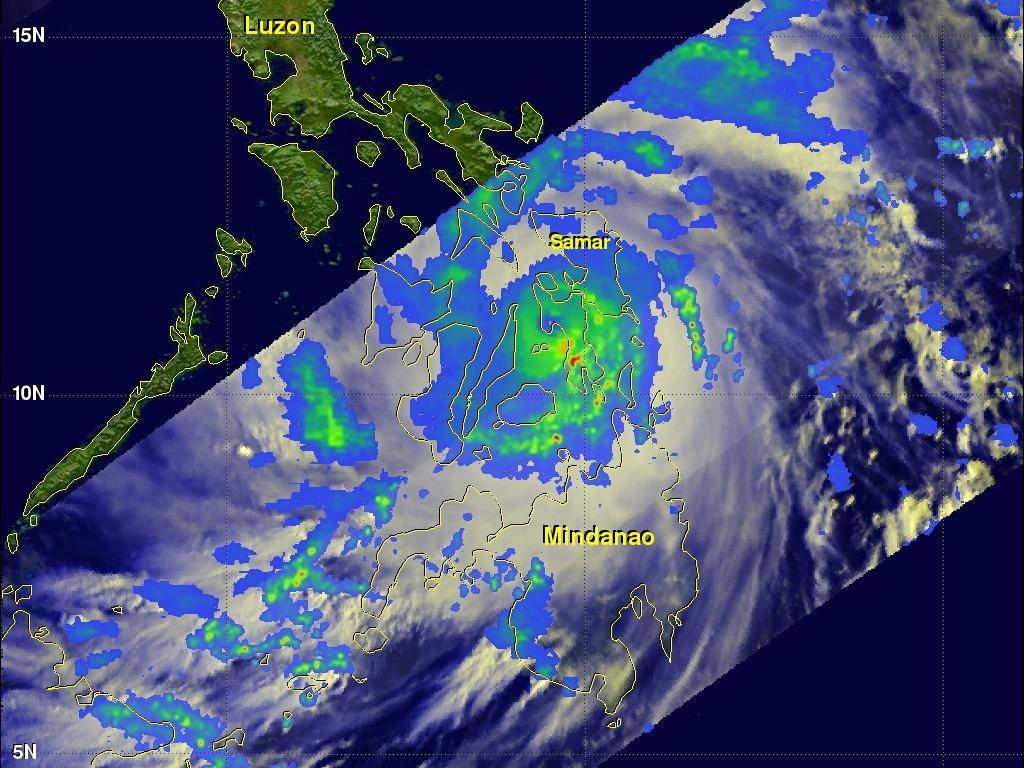 Image: TRMM imagery of typhoon