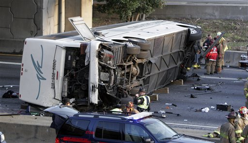 Commercial bus operators fought seat belts for decades, but opposition began to weaken after this 2007 crash in which a bus carrying Ohio's Bluffton University baseball team plummeted off a highway overpass near Atlanta. Five players, the bus driver and his wife were killed, and 28 were injured.