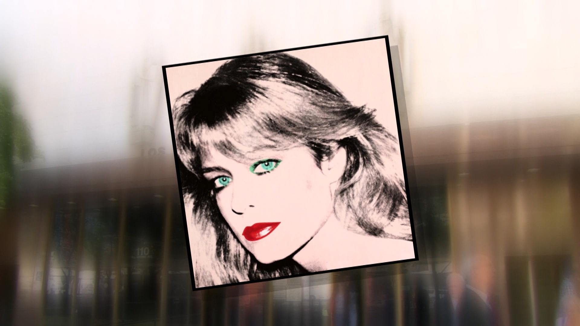 A Farrah Fawcett silkscreen by Andy Warhol.