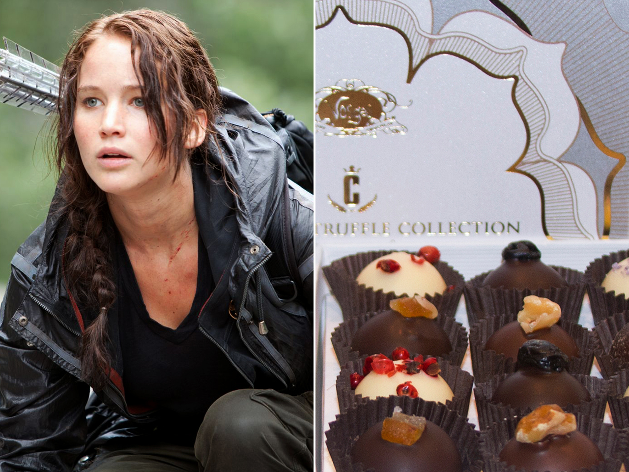 Hunger Games truffle chocolates from Vosges