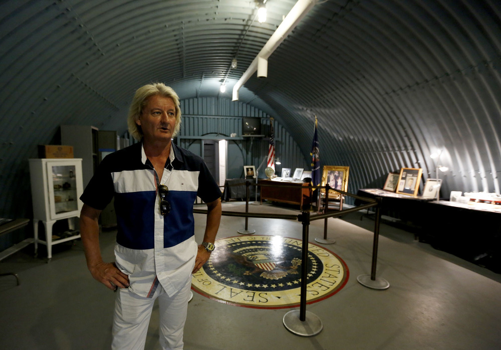 General manager Anthony Miller stands in the Cold War-era nuclear fallout shelter constructed for President John F. Kennedy on Peanut Island near Riviera Beach, Fla.