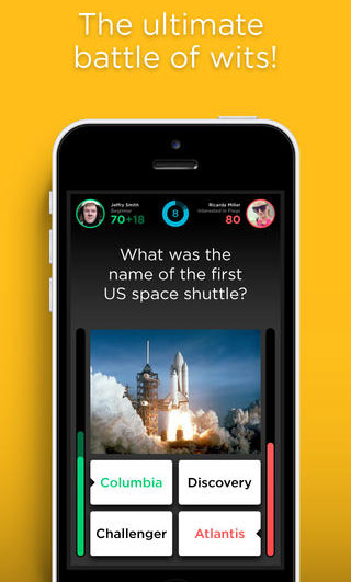 QuizUp gives people seconds to choose