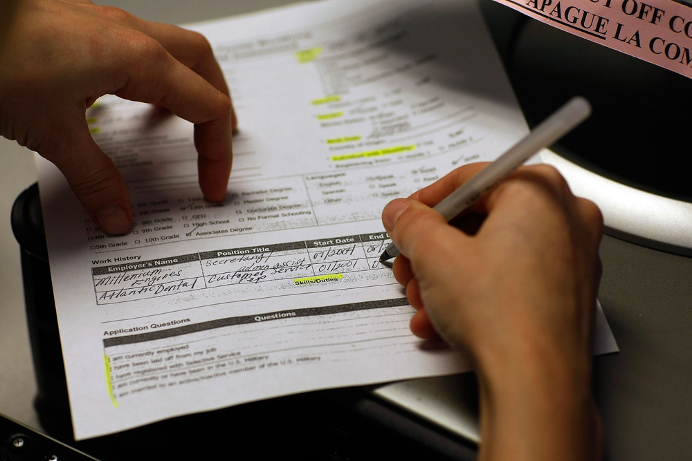 About 1.3 million unemployed Americans face the loss of jobless benefits in the New Year if Congress doesn't move quickly to extend them. Above, an un...