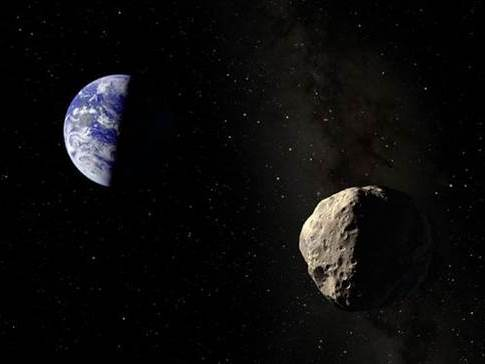 Image: Earth and asteroid