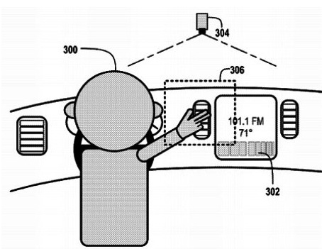 Google's filed a patent for technology that would allow drivers to control many functions of a vehicle with hand gestures.