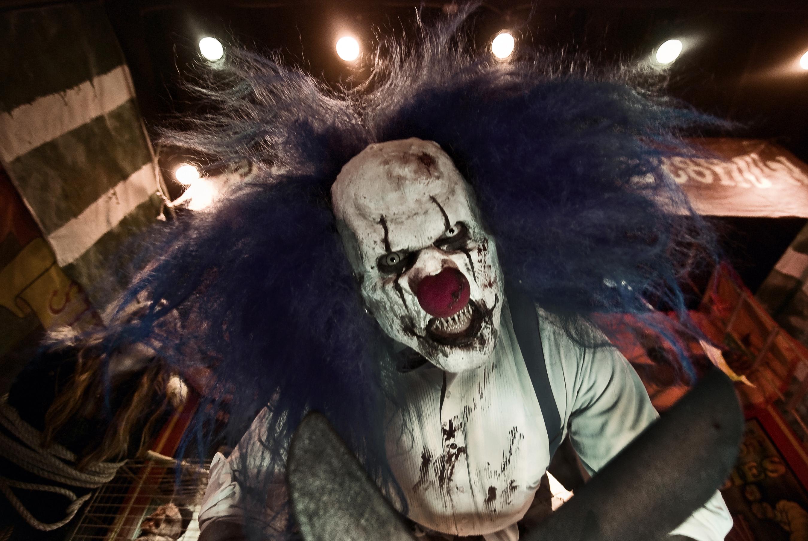 haunted house, chainsaw, clown, Headless Horseman