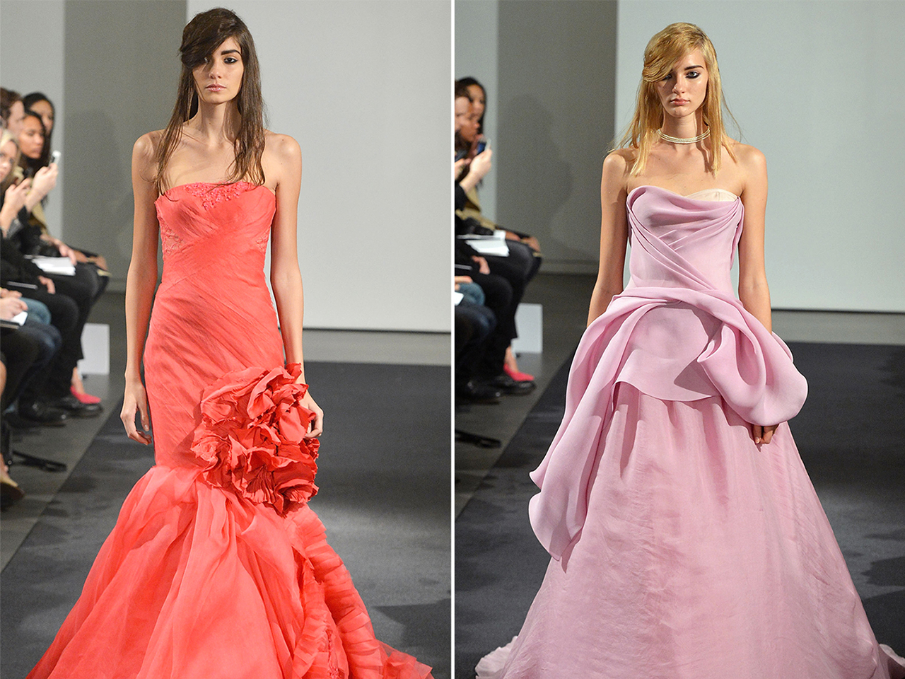 c182b067e222 Nice day for a pink wedding? Vera Wang debuts colorful bridal collection