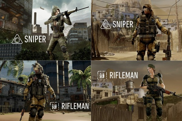 A breakdown of some of the male versus female soldiers that will appear in the Western version of