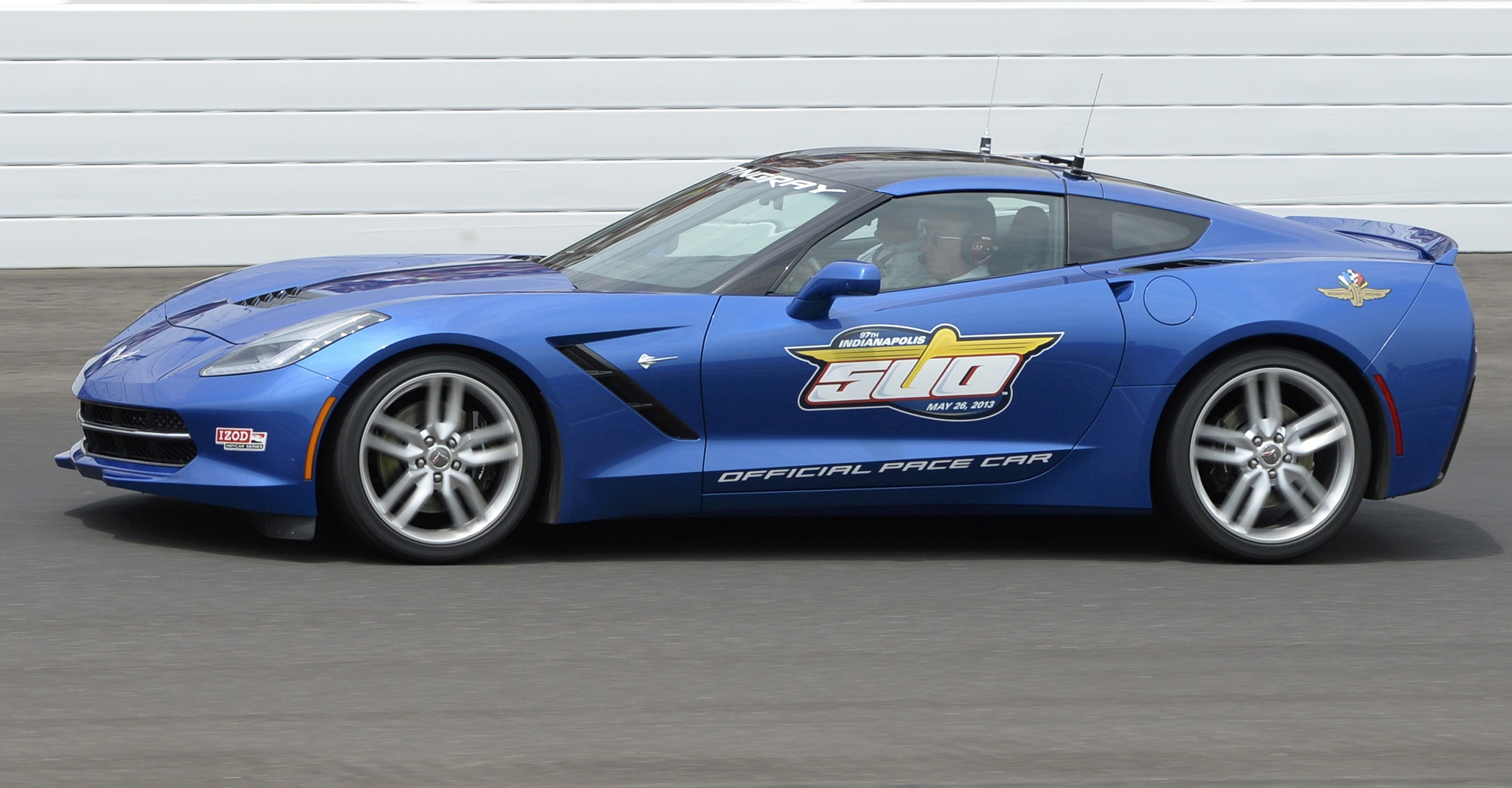 A 2014 Chevrolet Corvette Stingray paces the 97th running of the Indianapolis 500 at the Indianapolis Motor Speedway in Indianapolis, Ind., May 26, 2013.