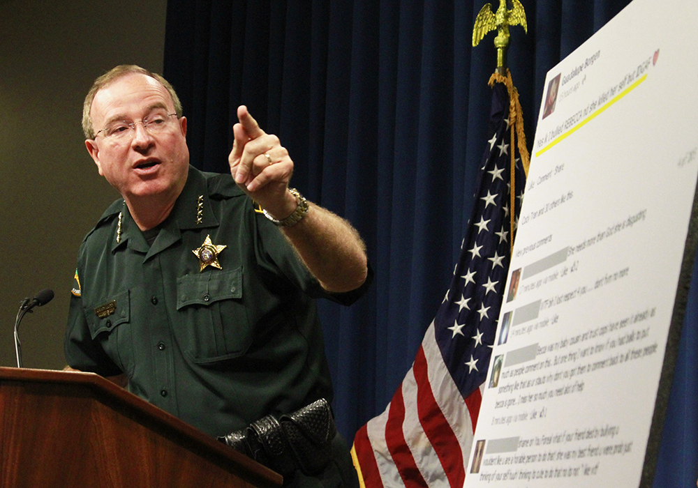 Polk County Sheriff Grady Judd talks about the events leading up to the arrest over the weekend of two juvenile girls in a Florida bullying case at a ...