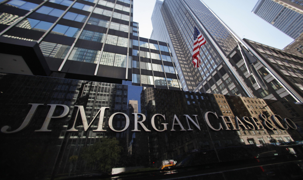 A sign outside the headquarters of JP Morgan Chase & Co in New York, September 19, 2013. JPMorgan Chase & Co will pay $920 million in penalties in two...