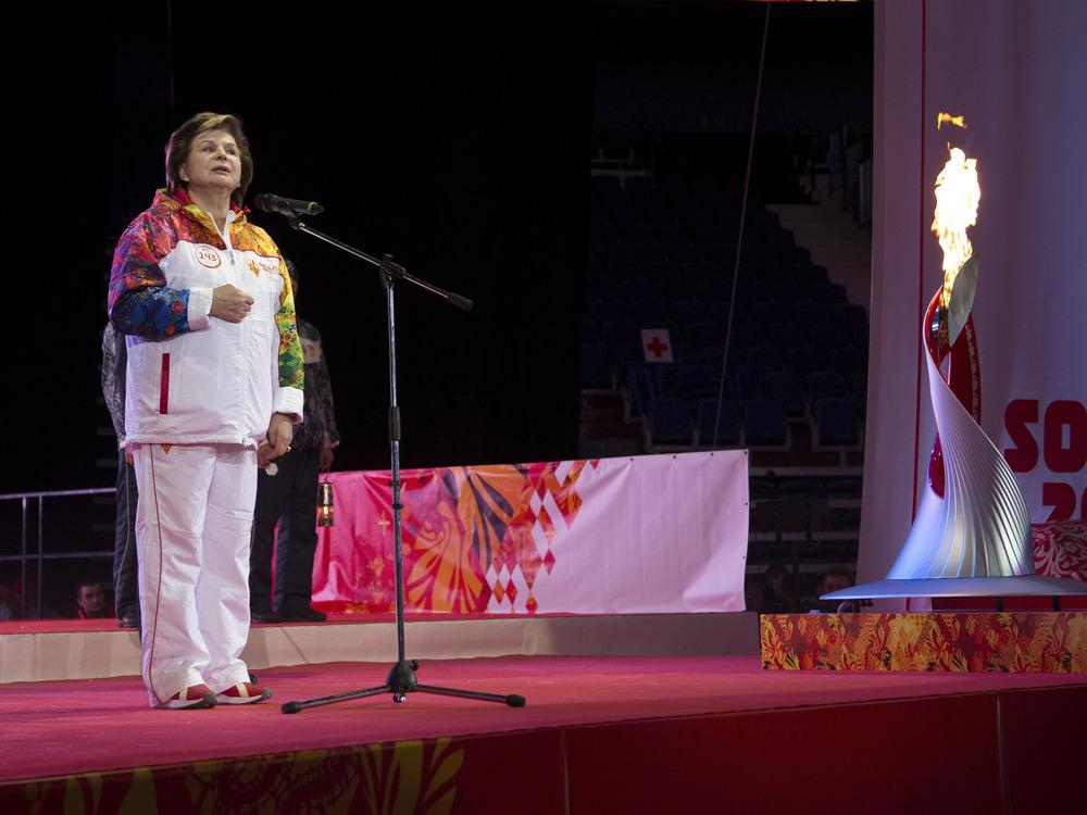 Image: Tereshkova and torch