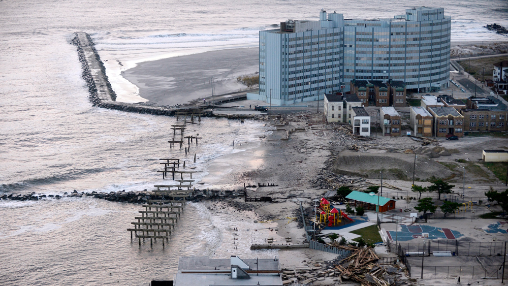 A boardwalk and waterfront property were heavily damaged following Hurricane Sandy in Atlantic City, N.J. One year later, some businesses are still unprepared for disaster, while others have been spurred to make changes.