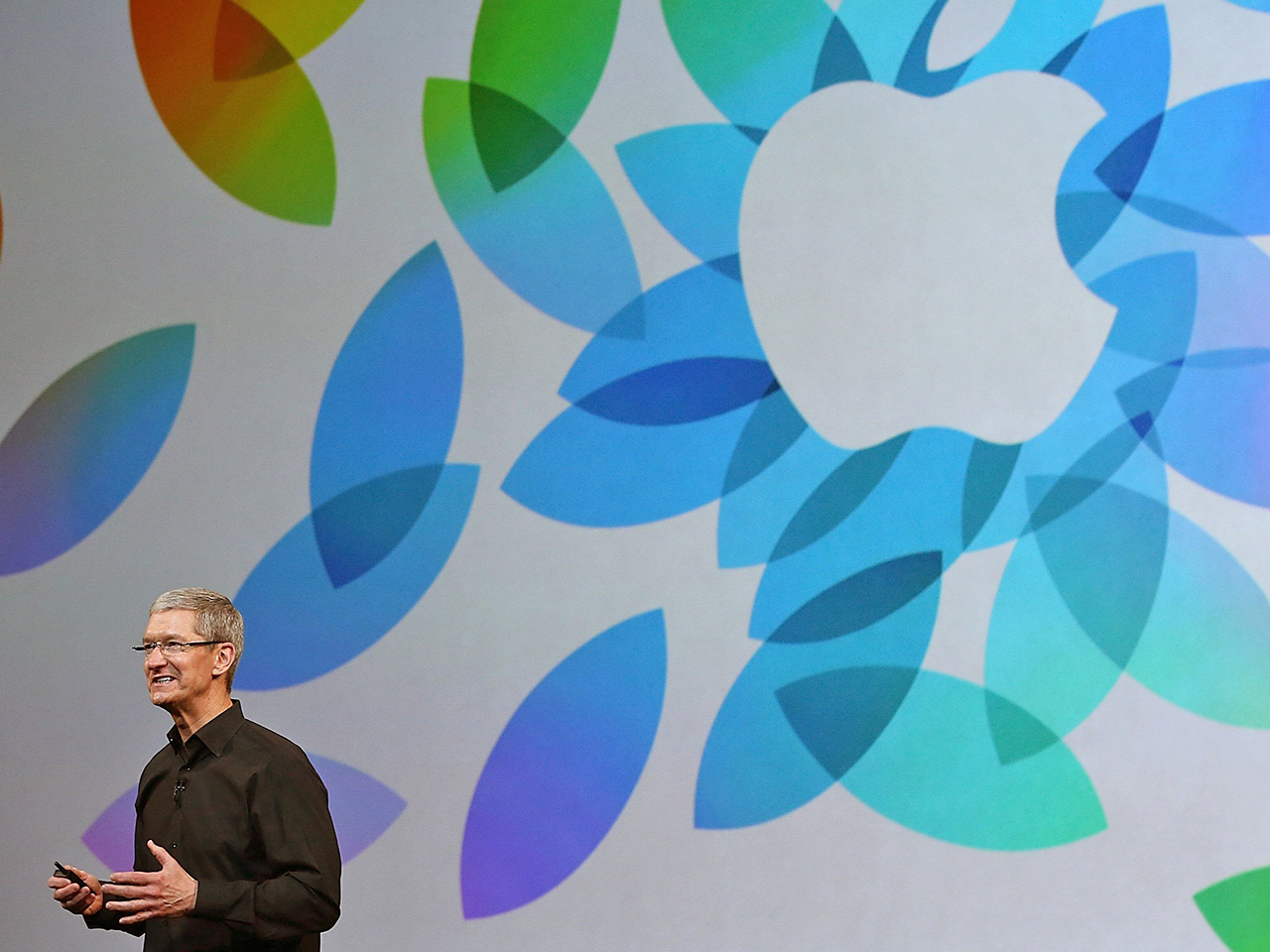 SAN FRANCISCO, CA - OCTOBER 22:  Apple CEO Tim Cook speaks during an Apple announcement at the Yerba Buena Center for the Arts on October 22, 2013 in ...