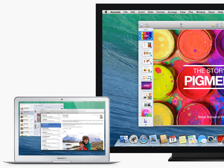 Multi-monitor on OS X Mavericks
