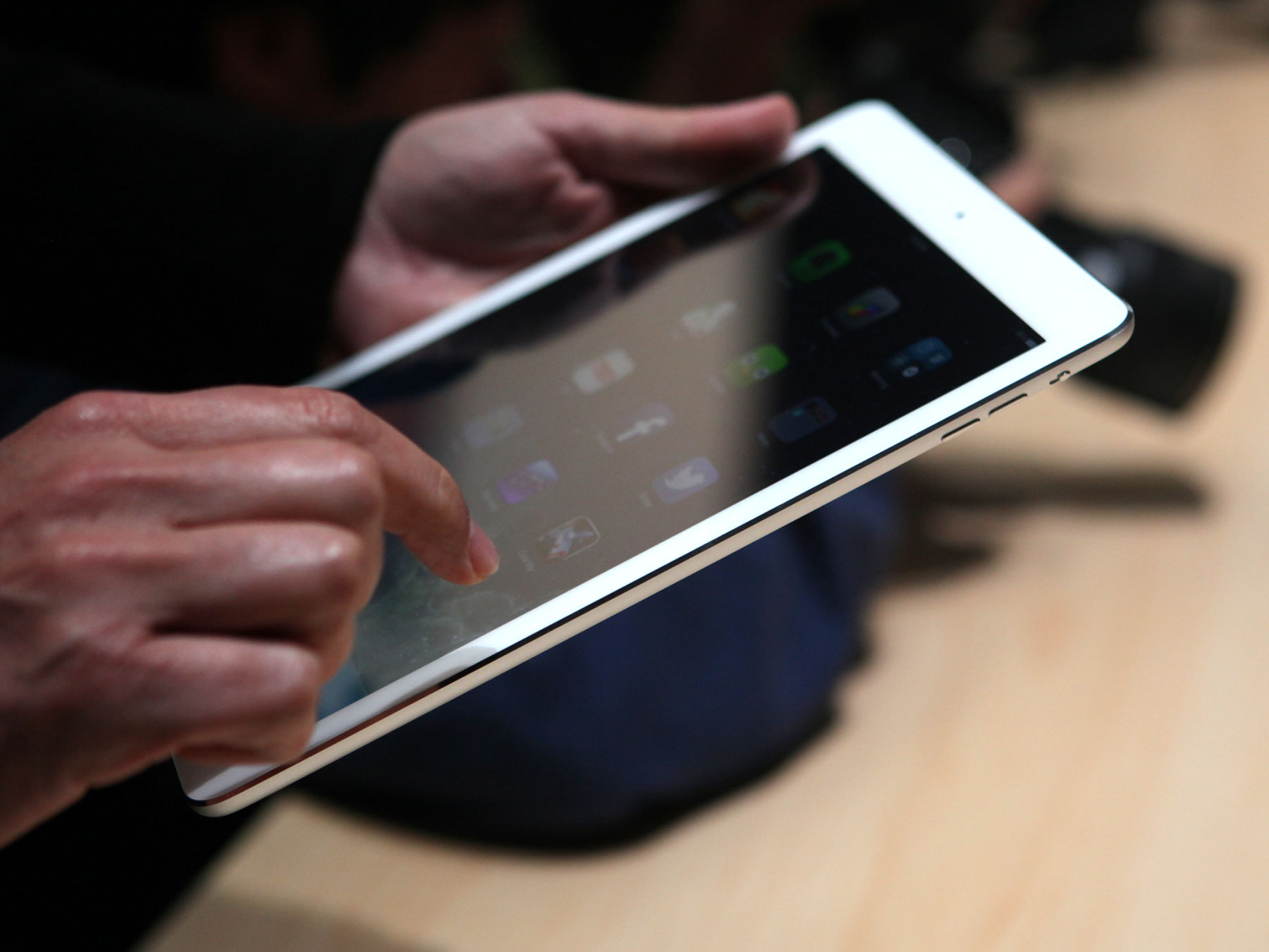 iPad Air on display at an Apple event in San Francisco on Oct. 22.