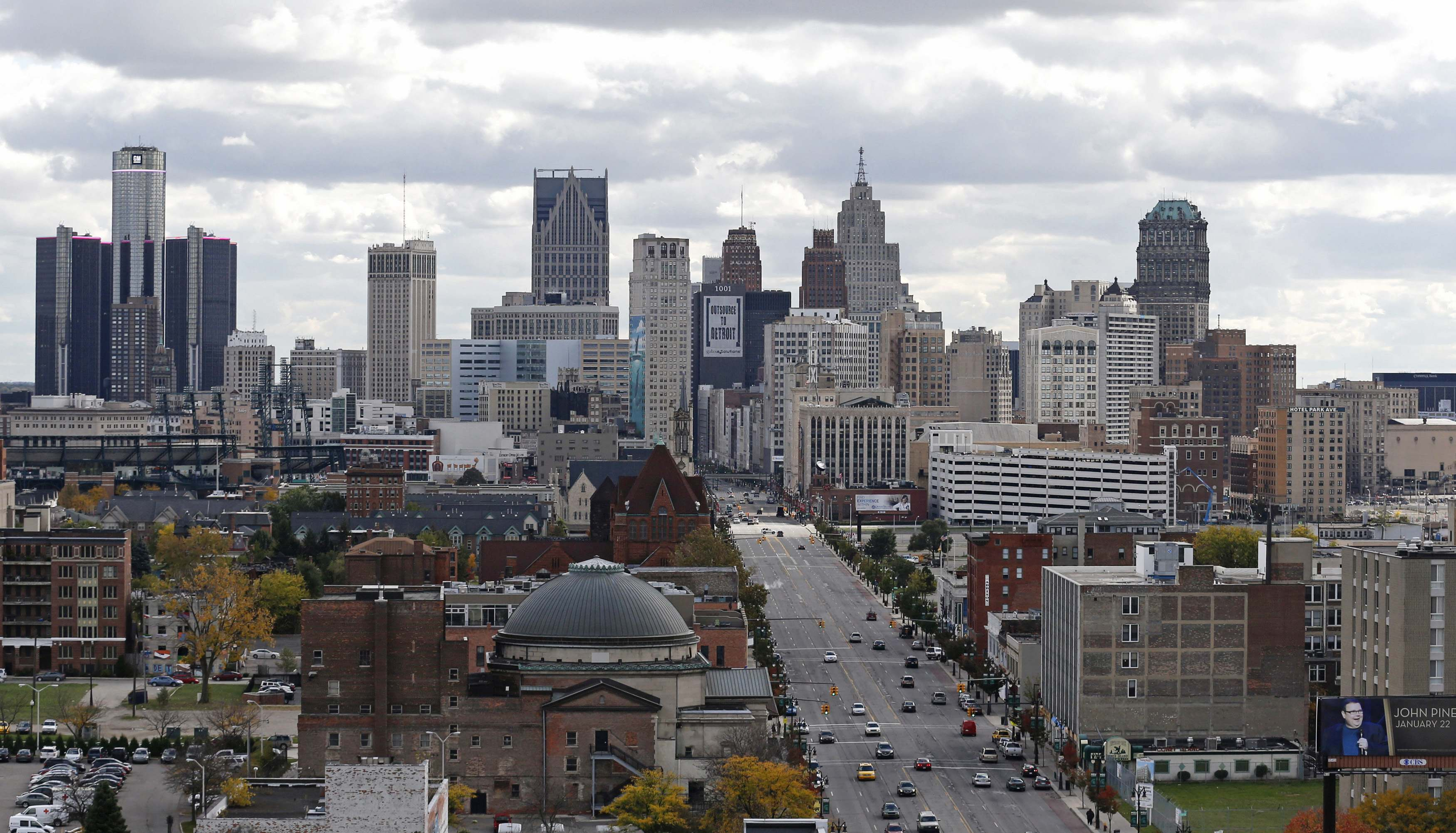 Detroit rose to No. 1 in a list of the country's top 10