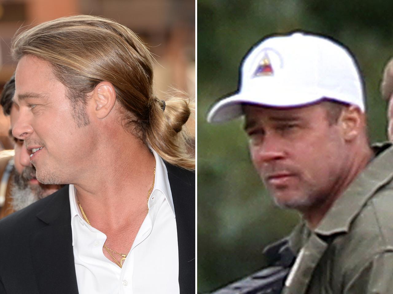 Long Story Short Brad Pitt Cuts Off All His Hair Again