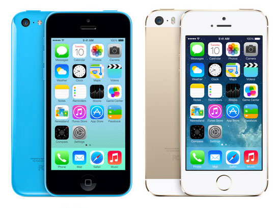 New iPhone 5C and iPhone 5S