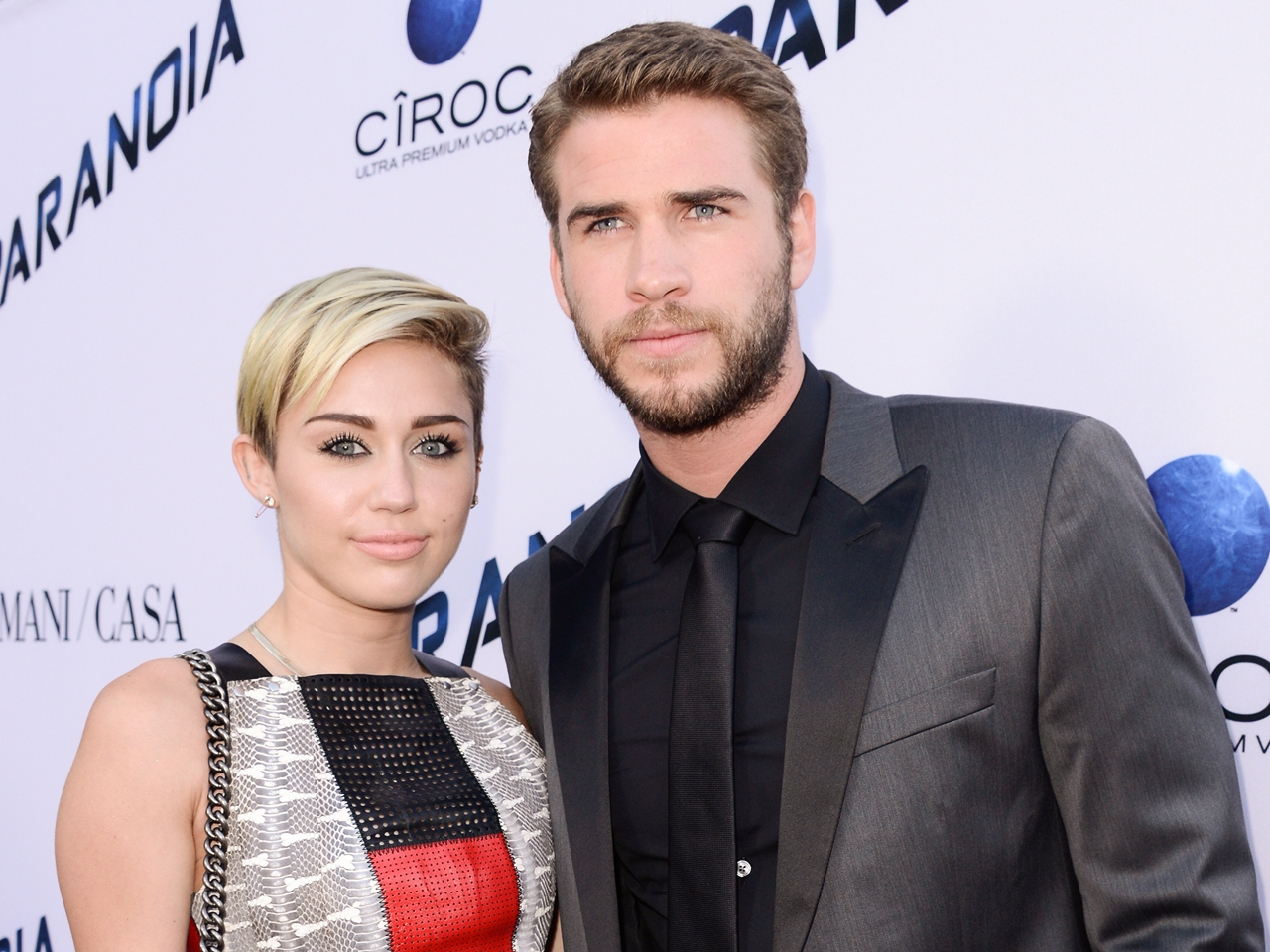 Image: Miley Cyrus and Liam Hemsworth