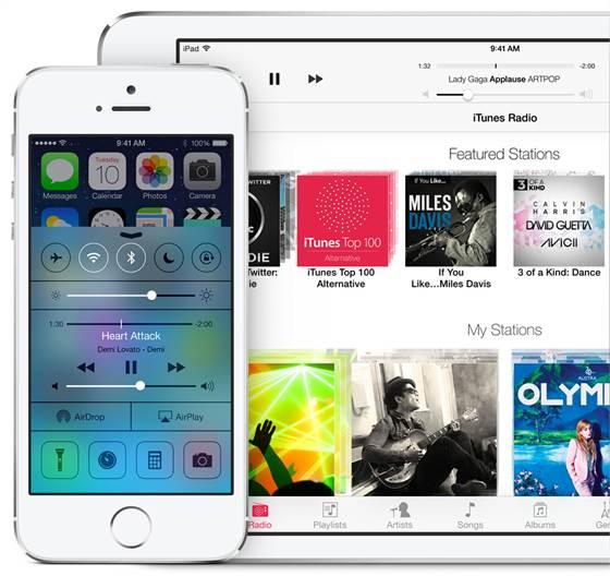 iPhone and iPad on iOS 7