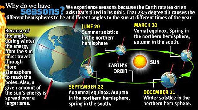 Seasons infographic