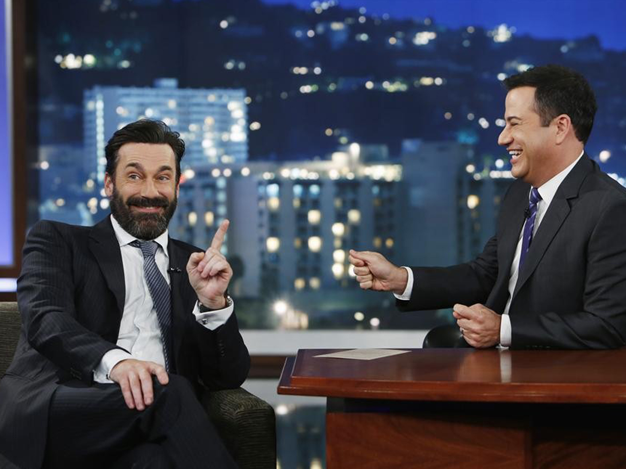 IMAGE: Jon Hamm and Jimmy Kimmel