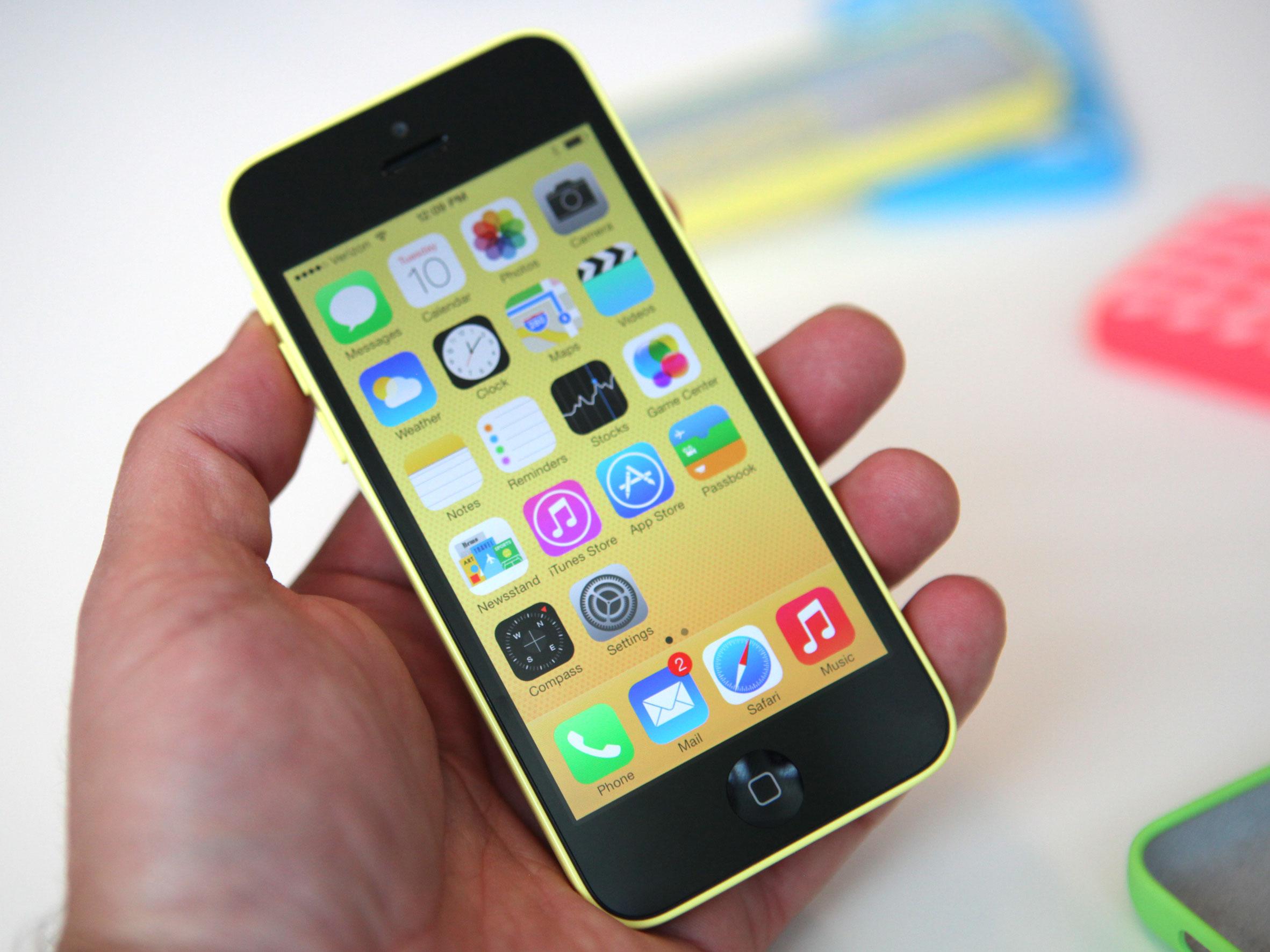 iPhone 5C with iOS 7