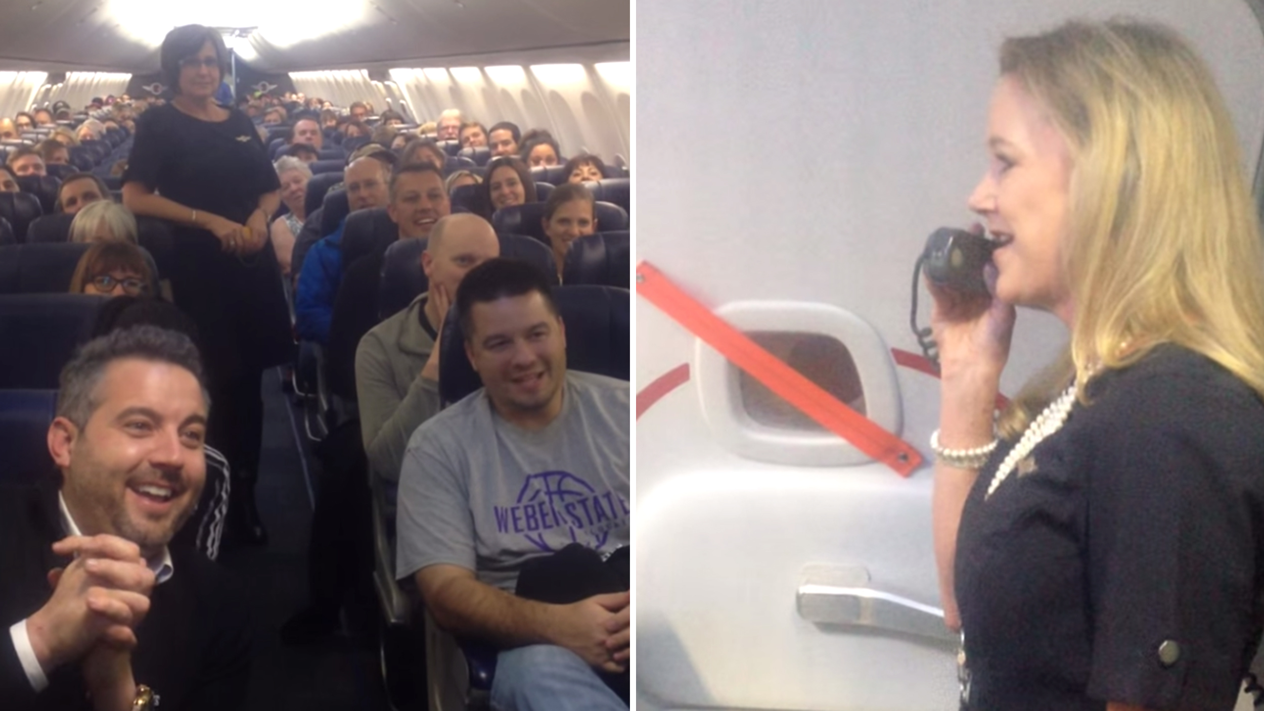 Southwest Flight Attendant Brings Comic Relief To Safety