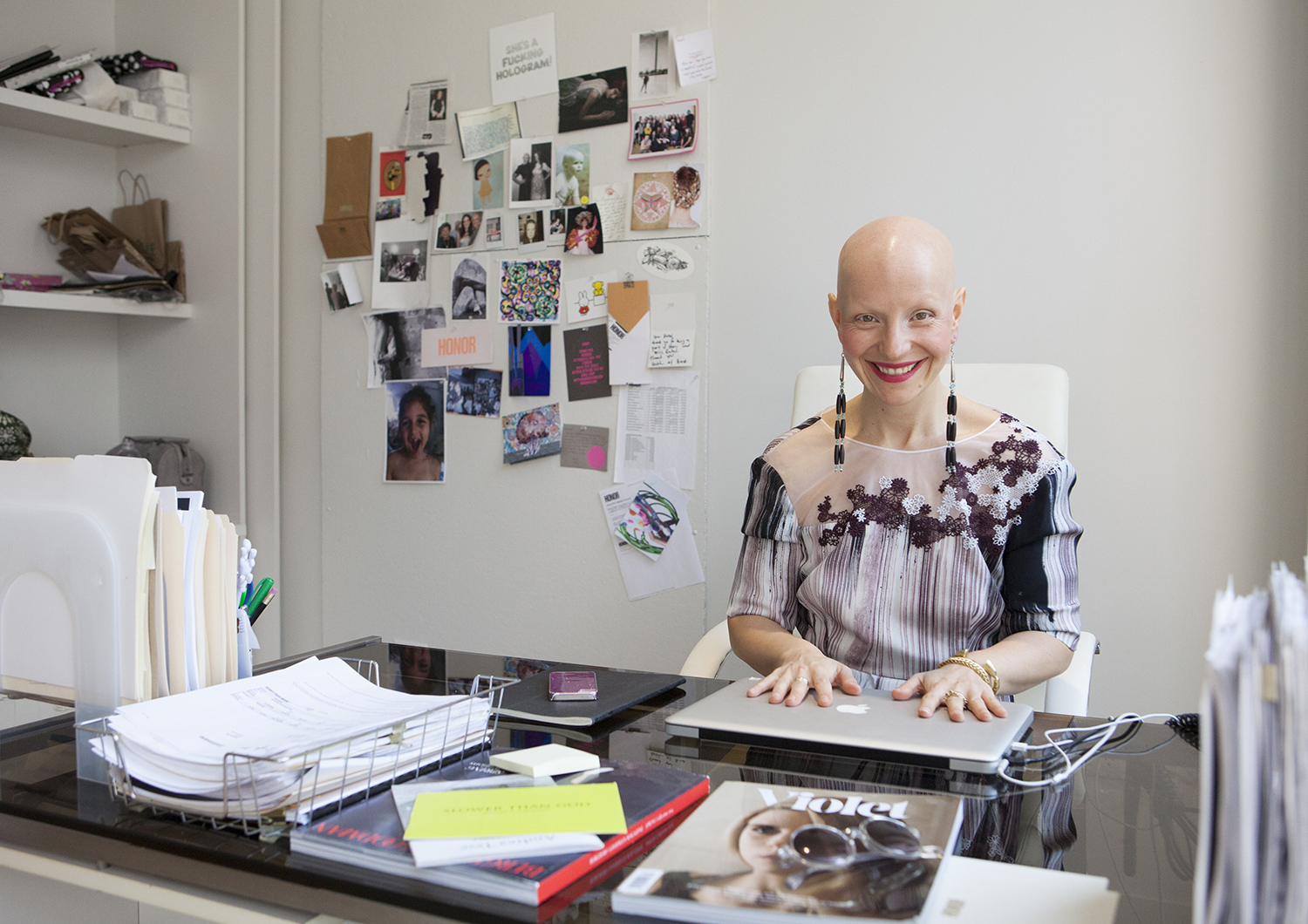 Bald fashion founder redesigns femininity (starting with herself)
