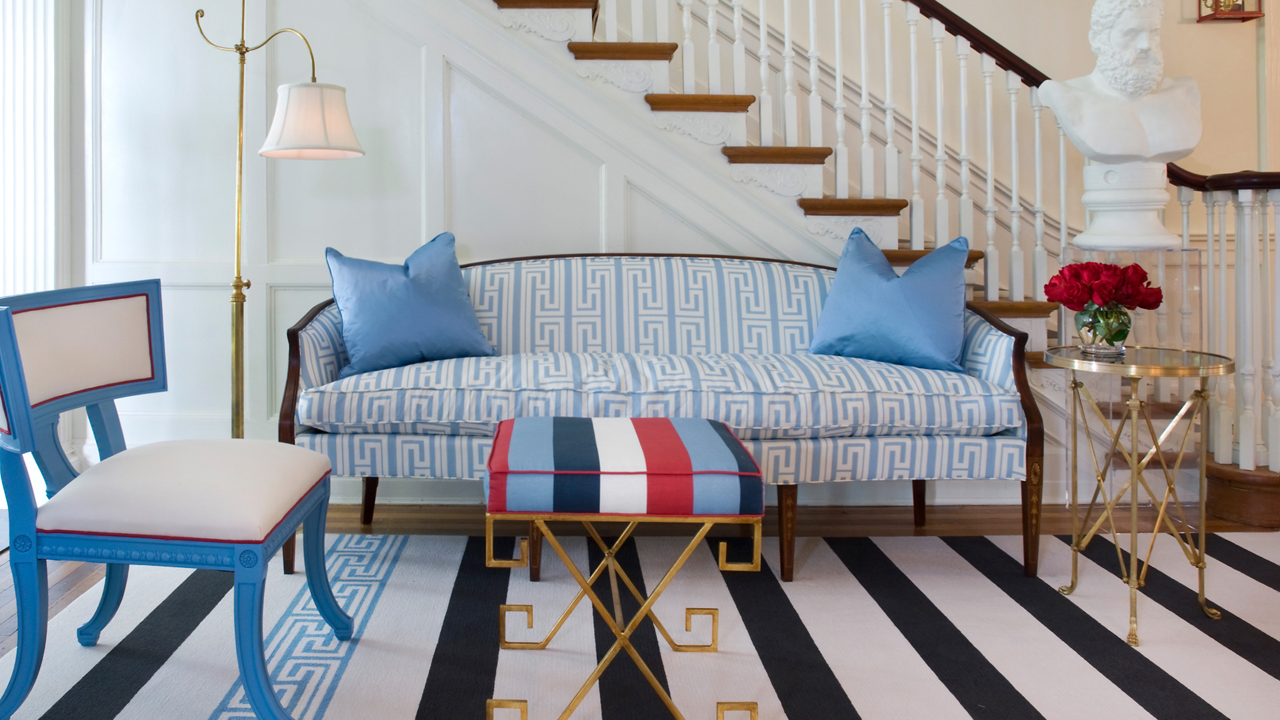 Stripes Chevron How to mix patterns in decor TODAYcom