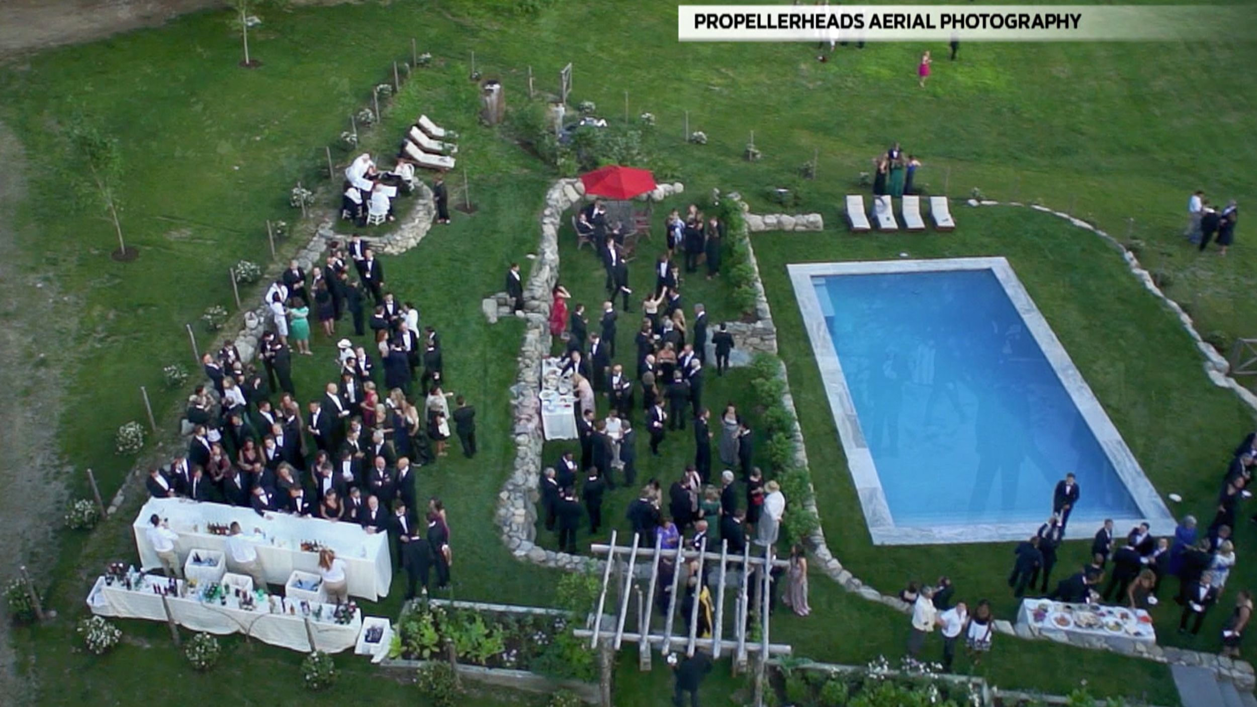 Drones take to the skies over weddings in search of for Drone wedding photos