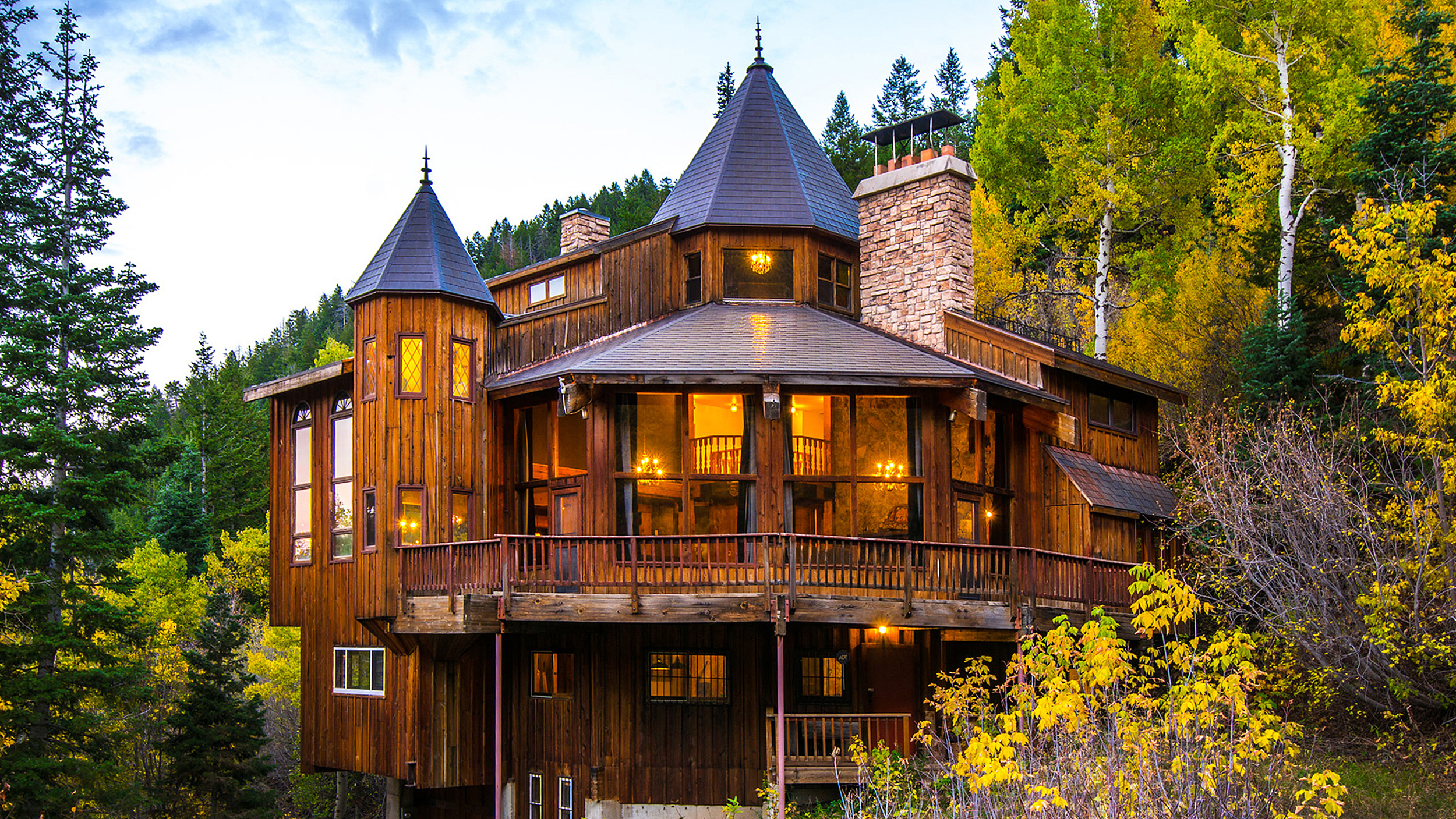 Utah mountain home hits the market for Castle style homes for sale