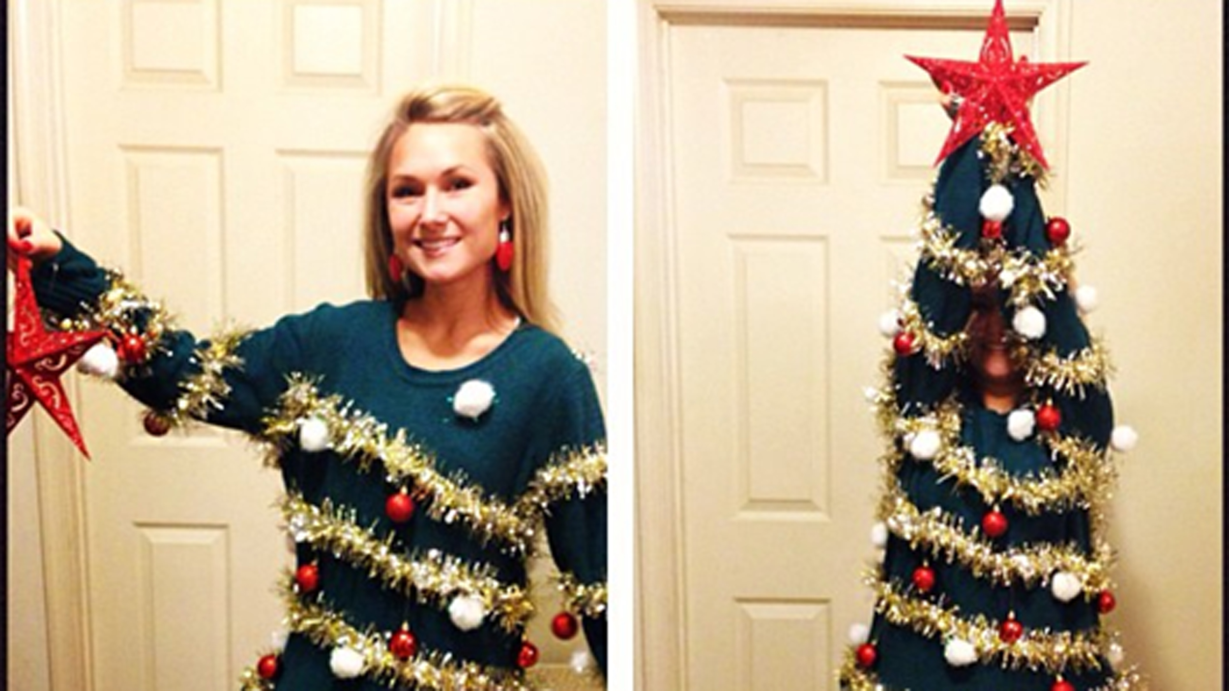 7 diy ugly christmas sweaters from pinterest solutioingenieria Image collections