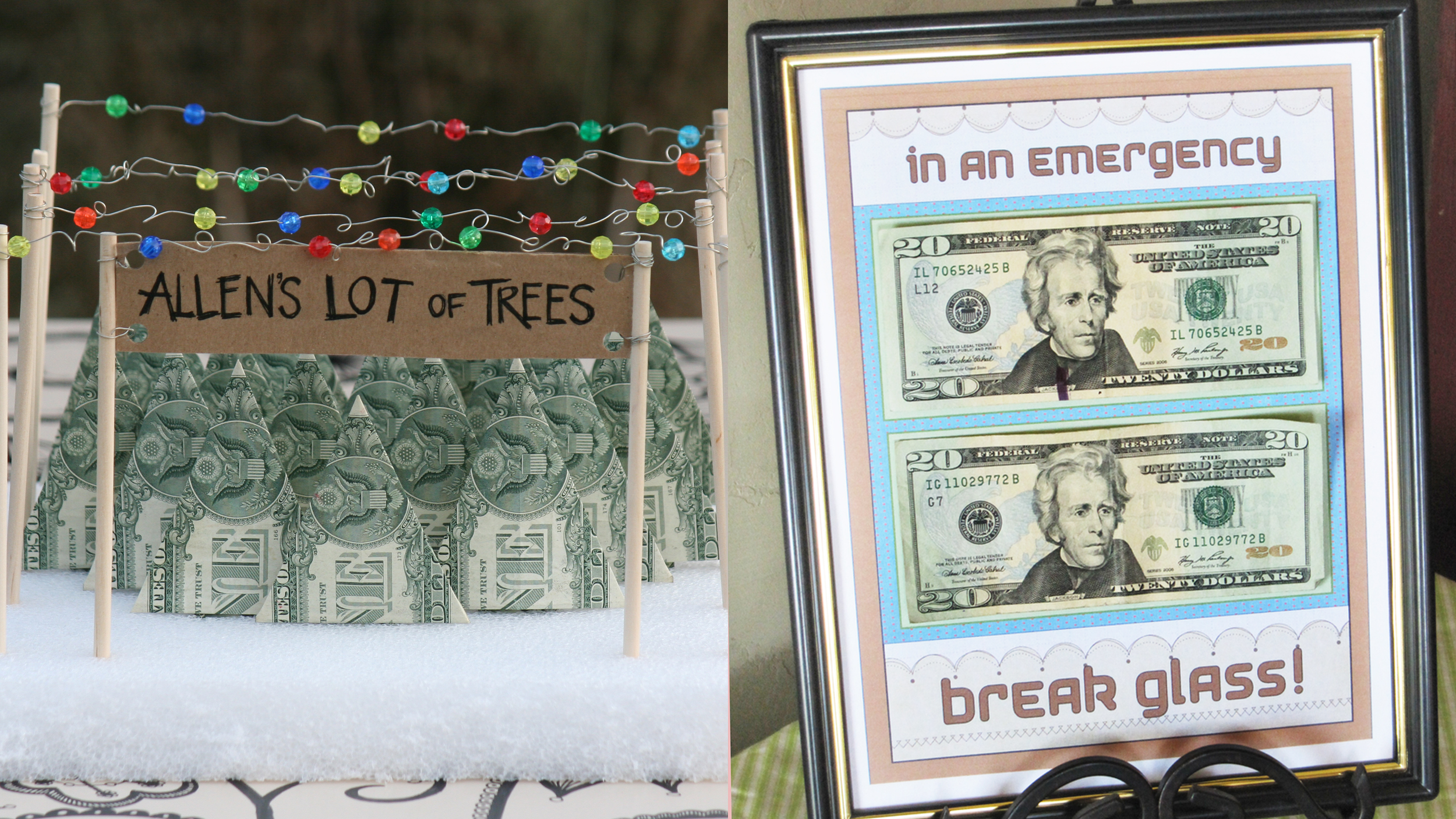 creative cash gift tutorials from pinterest will add sparkle to your present