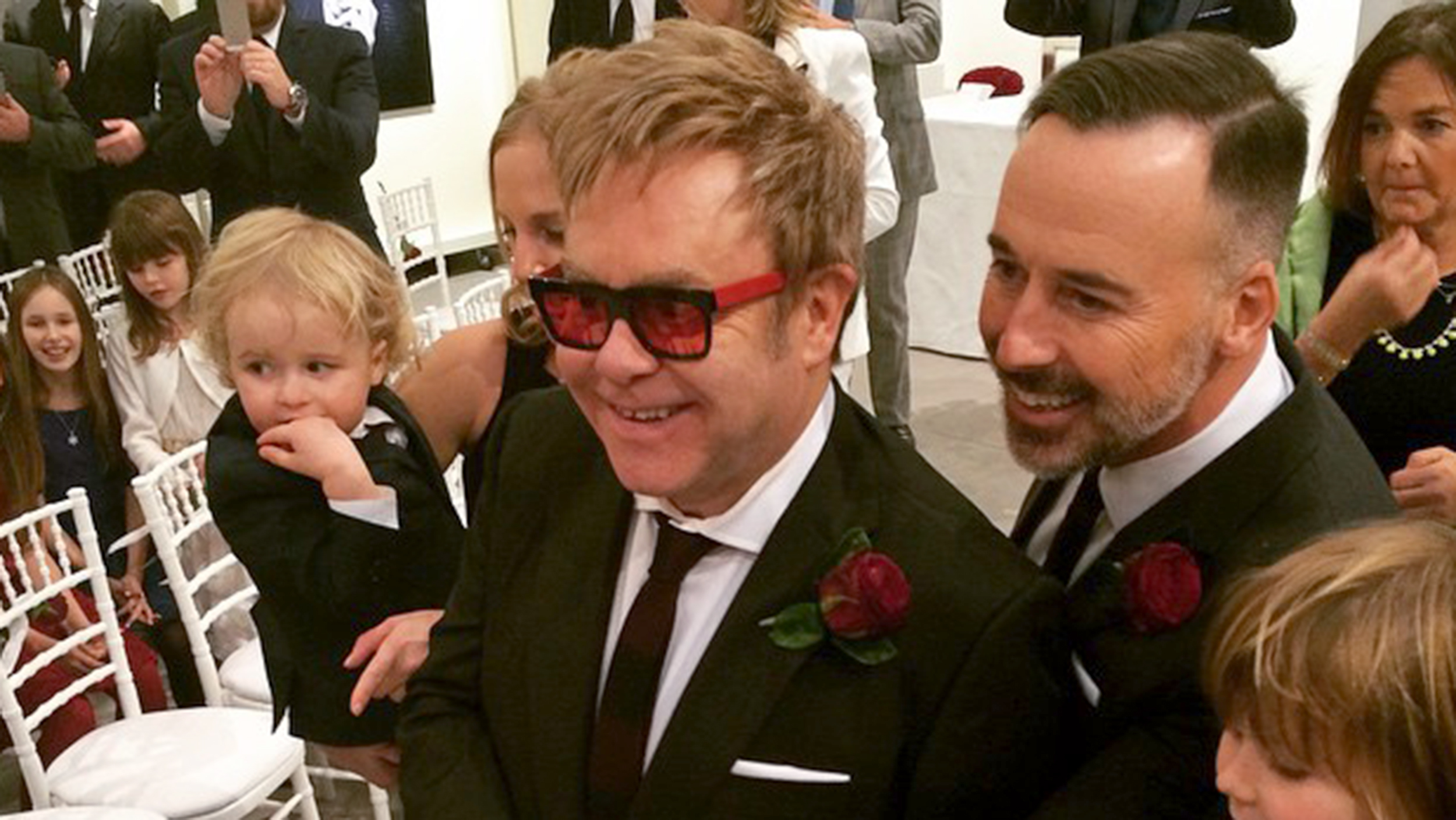 Elton John David Furnish Get Married Check Out The